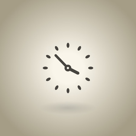 Smiple clock illustration with shadow