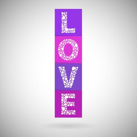Love heart valentines day blocks Çizim