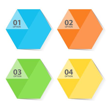 Pentagon color infographic tempate illustration 向量圖像