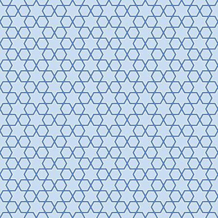 pentagon: Seamless blue stars background pattern