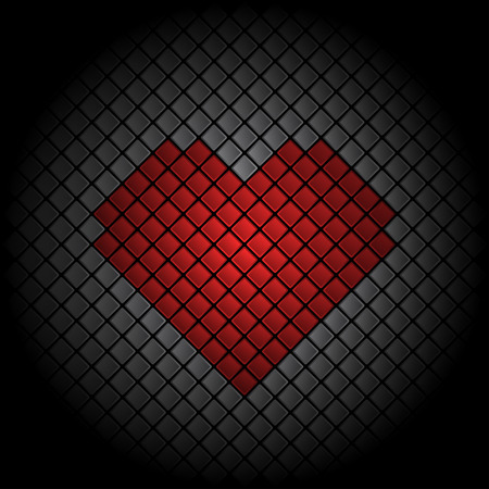 Valentines Day heart tile background Vector