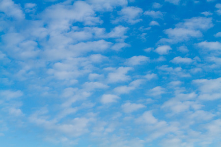 puffy: Blue sky and white puffy clouds Stock Photo