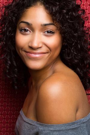 african american woman: Beautiful african american woman smiling