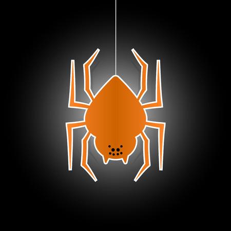 halloween spider: Halloween spider flat icon symbol Illustration
