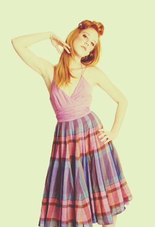Beautiful vintage fashion model woman