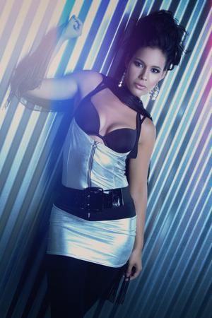 Beautiful latina fashion model woman photo