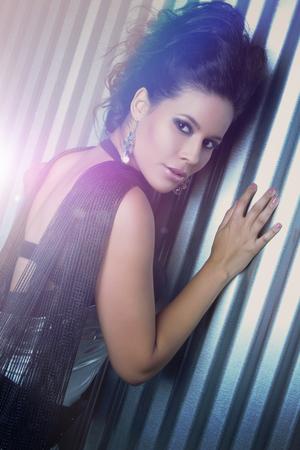 Beautiful sexy latin woman posing photo