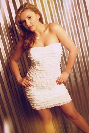 Beautiful latin fashion model woman photo