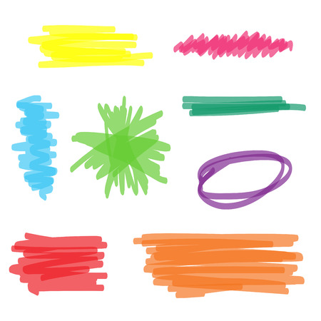 Colorful set of vector highlighter marker Ilustracja