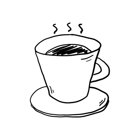 Coffee cup doodle vector illustration
