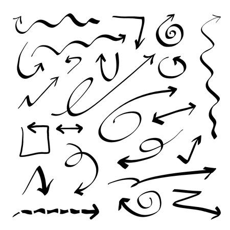 Hand drawn doodle vector arrows set Stock fotó - 99500551