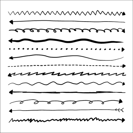 Set of long doodle vector arrows Stock fotó - 99499929