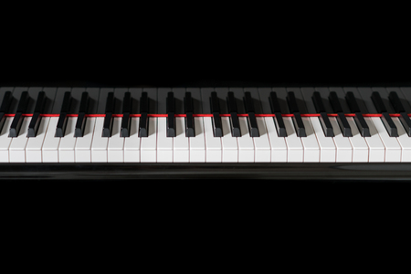 Piano musical instrument black and white keys