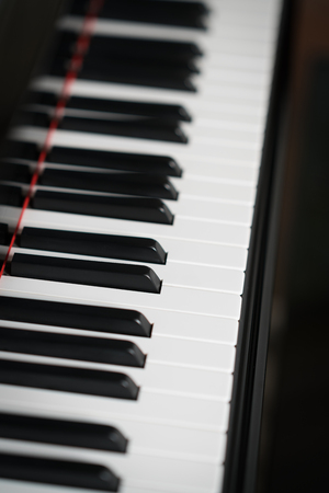 Closeup of piano musical instrument