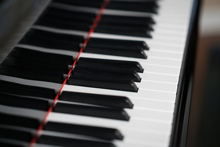 Black and white keys of piano keyboard
