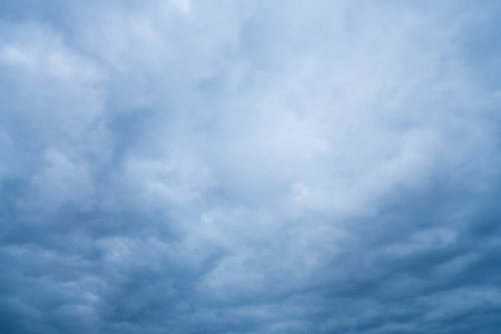 Dramatic blue grey storm clouds
