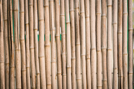 Closeup of bamboo stick fence background