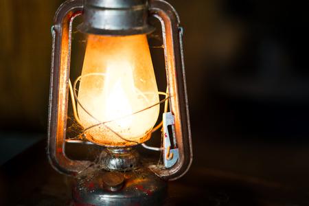 Old antique kerosene lantern lamp