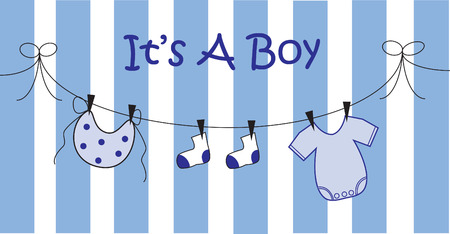 bibs: Its A Boy Illustration