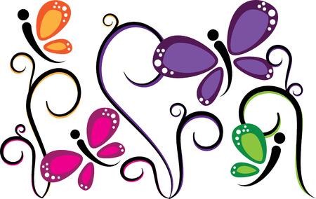 Bunte Schmetterlinge  Standard-Bild - 8235152