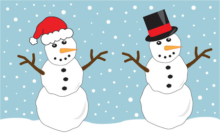 Two Snowmen Ilustrace