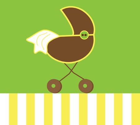 Neutral Baby Stroller Vector