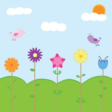accidentado: Tiempo de primavera Vectores