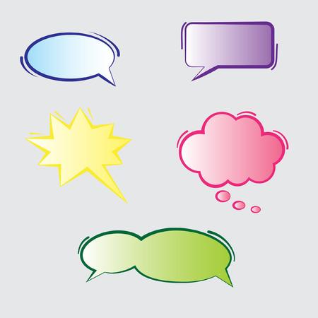 idea bubble: Text Bubbles Illustration