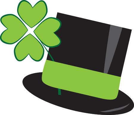 St Patricks Day Hat Illustration