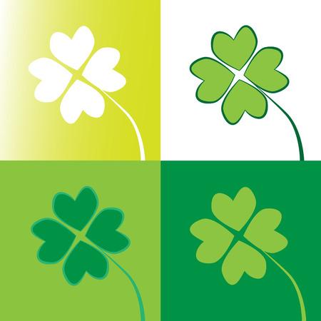 Four Leaf Clovers Stock Vector - 8706417