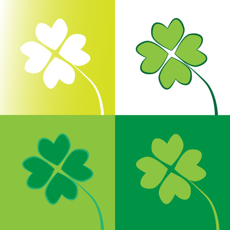 saint pattys: Four Leaf Clovers