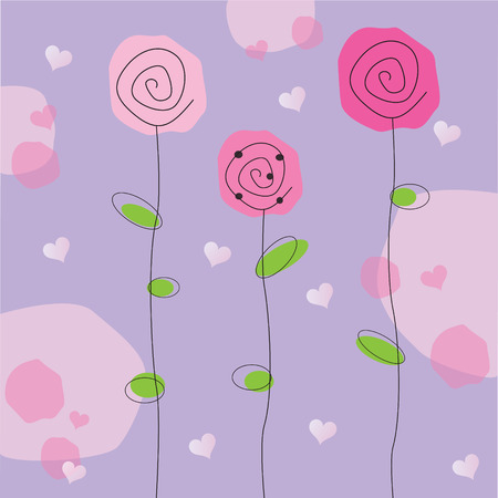 simple flower: Valentine Flowers