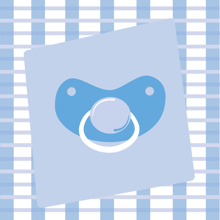 Blue Pacifier Stock Vector - 8823309