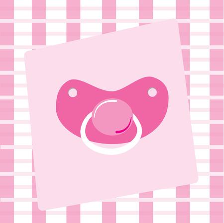 Pink Pacifier Stock Vector - 8823334