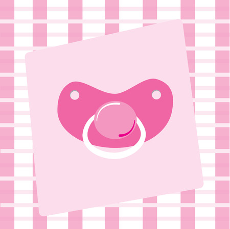 Pink Pacifier Illustration