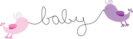 Baby Birds Иллюстрация