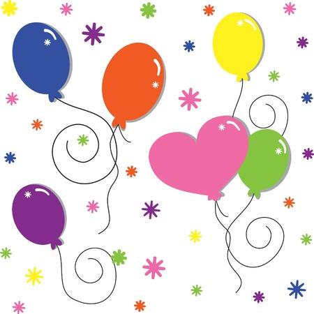 Ballonnen Stock Illustratie