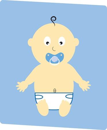 Baby Boy Stock Vector - 9190335