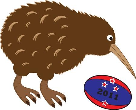 Rugby Kiwi Vector