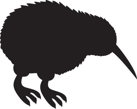 Kiwi Silhouette Vector