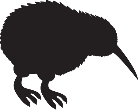 flightless bird: Kiwi Silhouette