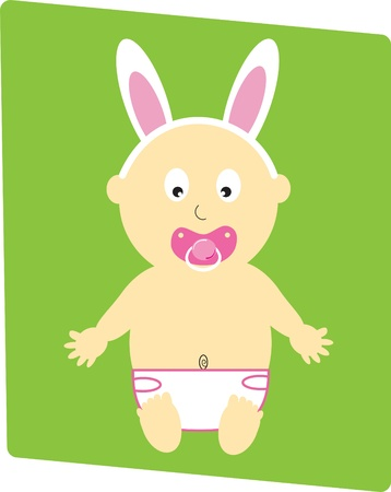 Easter Baby Girl Stock Vector - 9190338
