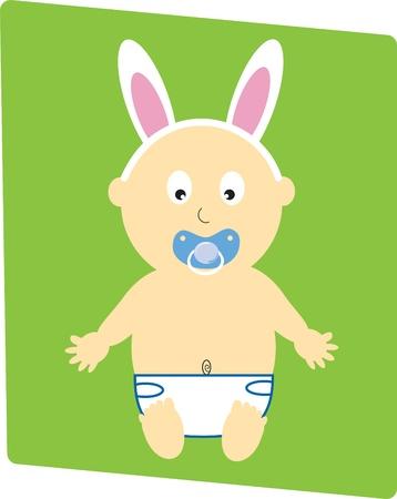 Easter Baby Boy Vector