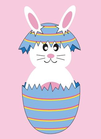 Cute Easter Egg Bunny Stock Vector - 9320283