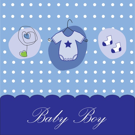 hangers: Baby Boy Background Illustration