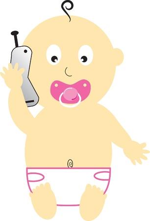 pink cell: Ni�a en celular