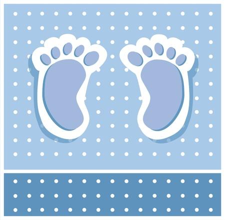 Baby Boy Feet Vector