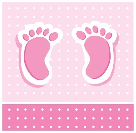 Baby Girl Feet Stock Illustratie