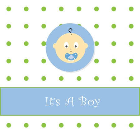 It's A Boy Vettoriali