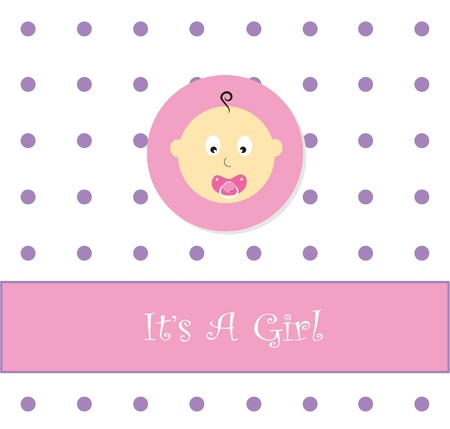 It's A Girl Stock Vector - 9555883